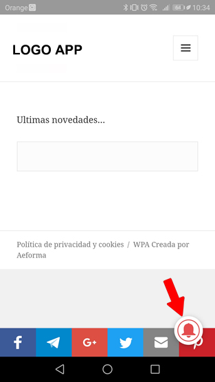 app android ios notificacion gesaldesatascos