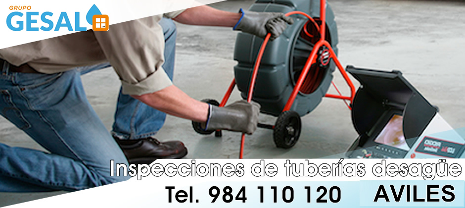 inspeccion tuberias desague aviles