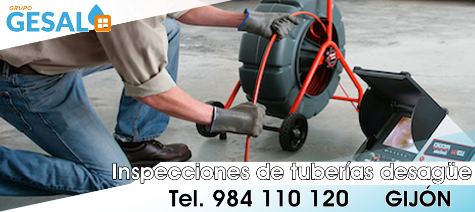 inspeccion tuberias desague gijon