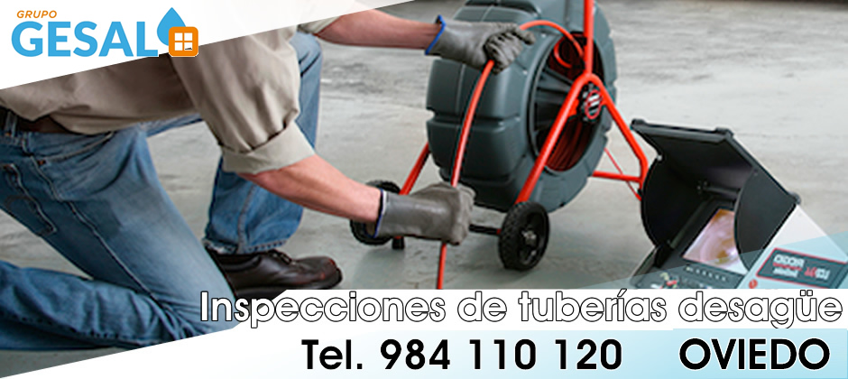 inspeccion tuberias desague oviedo